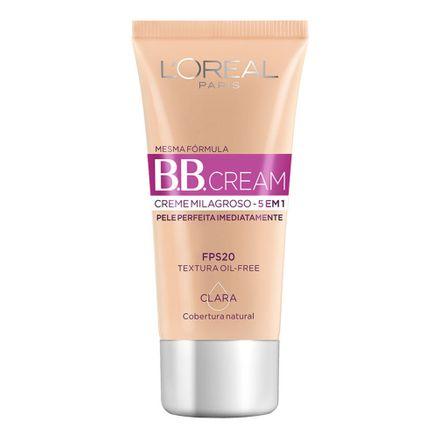 BB Cream L'oréal FPS 20 30ml Cor Clara