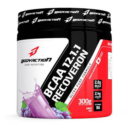 Bcaa 12:1:1 Recoveron - 300g - Body Action - Sabor Uva