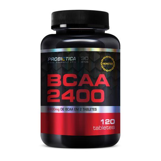 Bcaa 2400mg Probiotica com 120 Tabletes