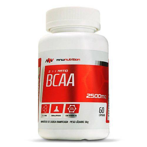 Bcaa 2500mg 60 Cápsulas - Mnw Nutrition