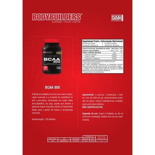 Bcaa 800 Bodybuilders 120 Tabletes