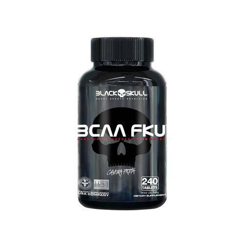 Bcaa Fku Caveira Preta 240 Tabletes - Black Skull