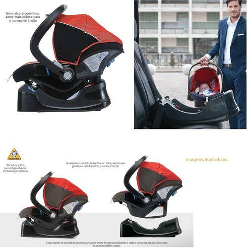 Bebê Conforto Chicco - Auto Fix Fast Até 13kg - Scarlet