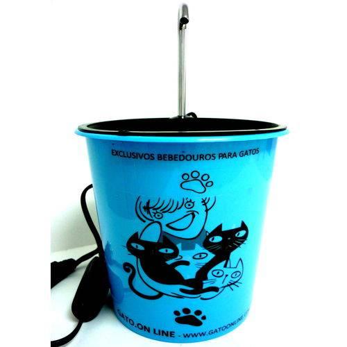Bebebdouro para Gatos Gato Online Plástico 1700 Ml Azul