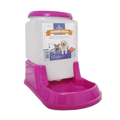 Bebedouro Automatico Rosa para Cães e Gatos 3L de Agua - Alvorada