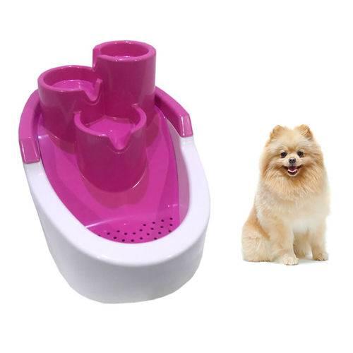 Bebedouro Fonte com Filtro para Cães Pet Gato Cachorro Rosa Bivolts 2,5L