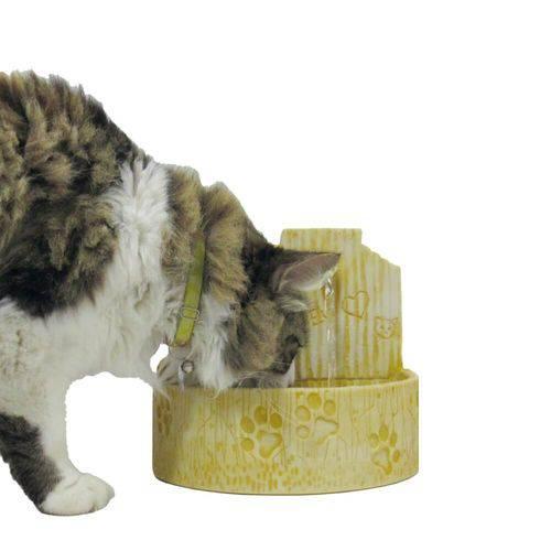 Bebedouro Fonte para Gatos Prime Amarelo 110 V ou 220 V