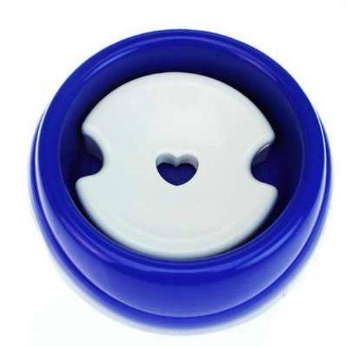 Bebedouro Plástico Especial para Cães de Pelo Longo-blue