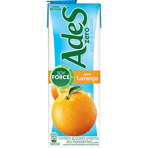 Bebida à Base de Soja Laranja Ades Zero - 1L