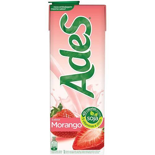 Bebida à Base de Soja Morango Ades - 1L