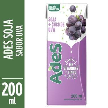 Bebida de Soja Sabor Uva Ades 200ml