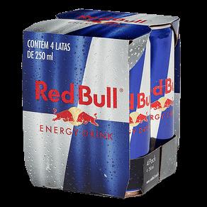 Bebida Energética Red Bull 250ml (Pack com 4 Unidades)