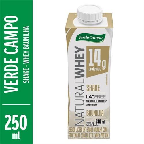 Bebida Natural Whey Verde Campo 250ml Shake Baunilha