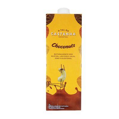 Bebida Vegetal Choconuts (Castanha de Cajú e Cacau) Sem Glúten e Sem Lactose 1L - a T