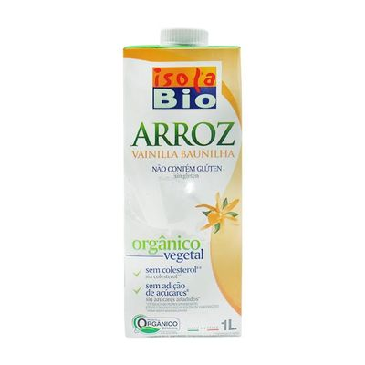 Bebida Vegetal Orgânica de Arroz com Baunilha 1L - Isola Bio