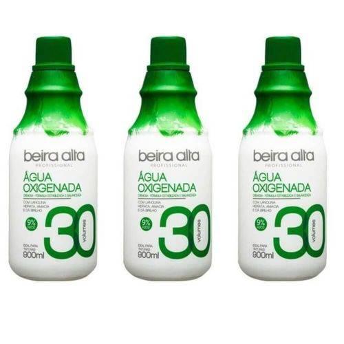Beira Alta Água Oxigenada 30vol Creme 900ml (kit C/03)