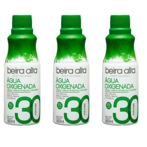 Beira Alta Água Oxigenada 30vol Creme 90ml (kit C/03)