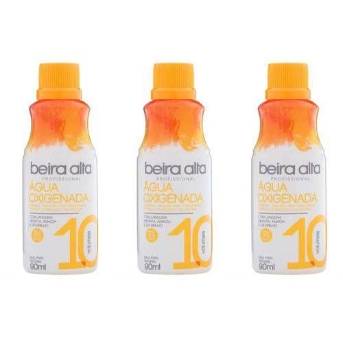 Beira Alta Água Oxigenada 10vol Creme 90ml (kit C/03)
