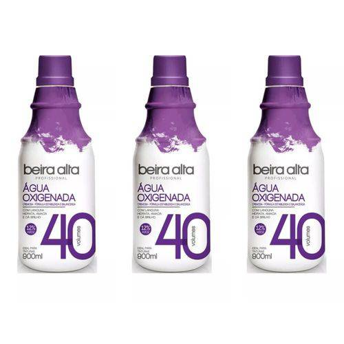 Beira Alta Água Oxigenada 40vol Creme 900ml (kit C/03)