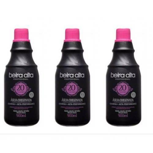 Beira Alta Água Oxigenada Black 20vol Creme 900ml (kit C/03)