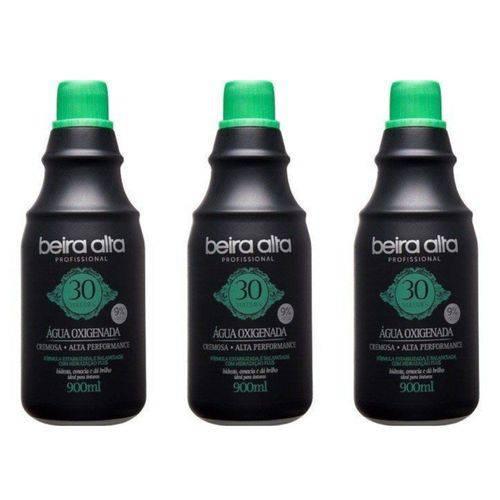 Beira Alta Água Oxigenada Black 30vol Creme 900ml (kit C/03)