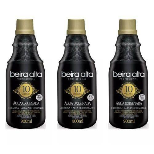 Beira Alta Água Oxigenada Black 10vol Creme 900ml (kit C/03)