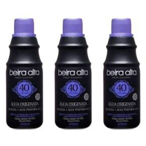 Beira Alta Água Oxigenada Black 40vol Creme 450ml (kit C/03)