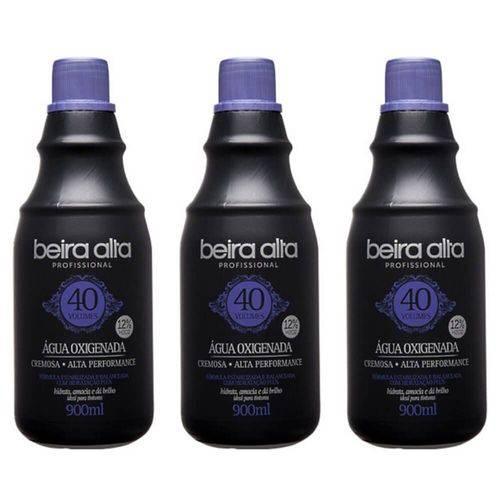 Beira Alta Água Oxigenada Black 40vol Creme 900ml (kit C/03)