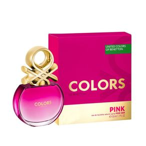 Benetton Colors Pink Eau de Toilette Feminino 50ml
