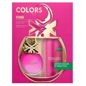 Benetton Colors Pink Kit - EDT 80ml + Desodorante Kit
