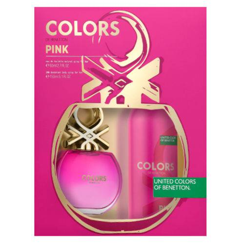 Benetton Colors Pink Kit - Edt 80ml + Desodorante