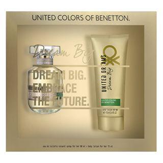 Benetton Dream Big Her Kit - Eau de Toilette + Loção Corporal Kit