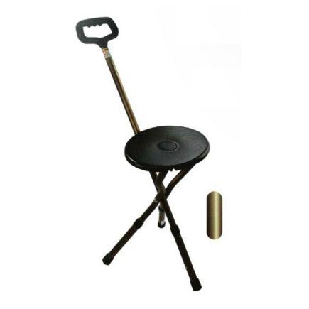 Bengala em Alumínio Altura Regulável C/ Assento Bronze - Macrolife