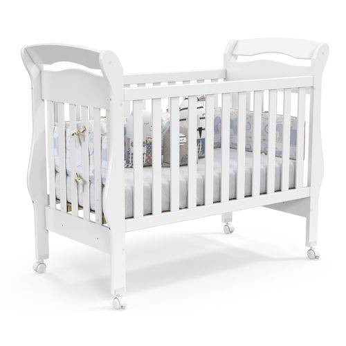 Berço Bambini - Branco Brilho - Padrão Americano - Matic Móveis