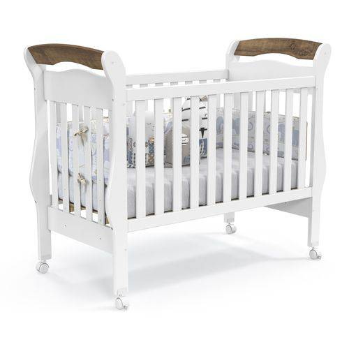 Berço Bambini - Branco Soft/teka Touch - Padrão Americano - Matic Móveis