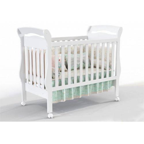 Berço Mini Cama Bambini - Branco Brilho
