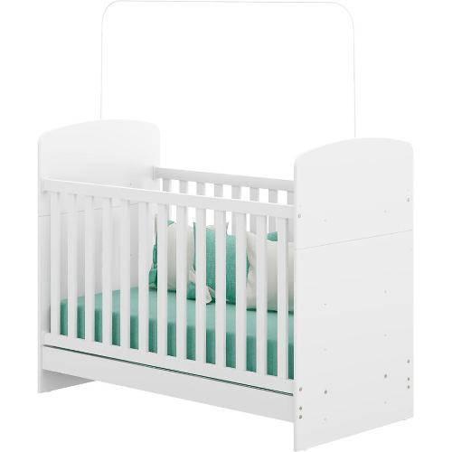 Berço Mini-cama Classic para Colchão 13x6x12 Branco Premium - Multimoveis