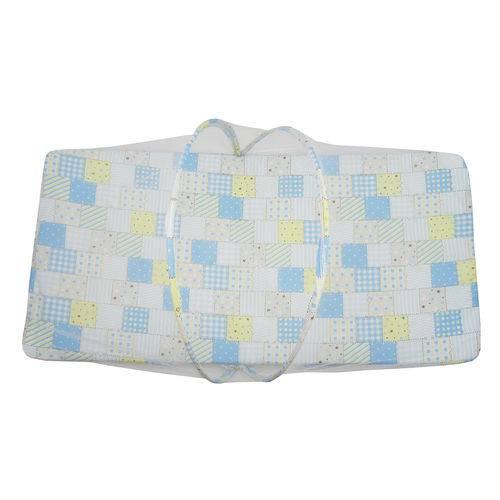 Berço Portátil Mosquiteiro Masculino Patchwork Azul