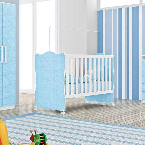 Berço Rodial Infantil R33pp - Rodial - Branco / Azul