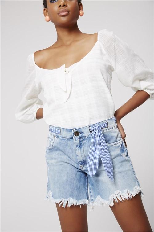 Bermuda Boyfriend Jeans Feminina
