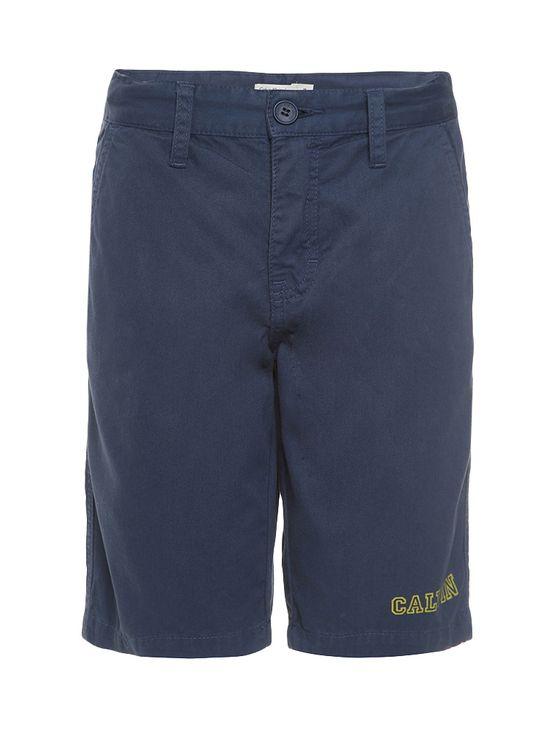 Bermuda Color Infantil Calvin Klein Jeans Estampa Frente Marinho - 2