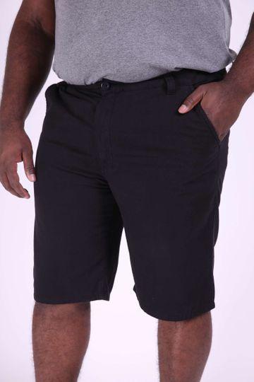 Bermuda Color Plus Size Preto 48