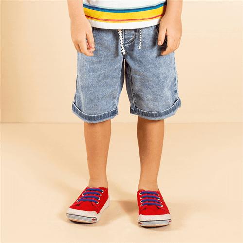 Bermuda Geladinho no Palito Jeans/6 e 7