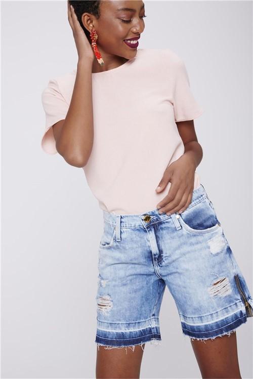 Bermuda Jeans Boyfriend Feminina