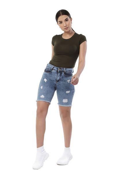 Bermuda Jeans Feminina - 261140 36