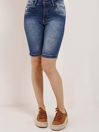 Bermuda Jeans Feminina Amuage Azul