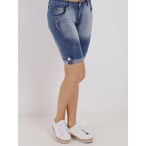 Bermuda Jeans Feminina Azul 38
