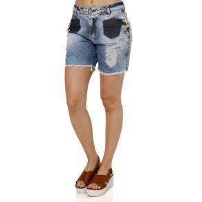 Bermuda Jeans Feminina Azul 36