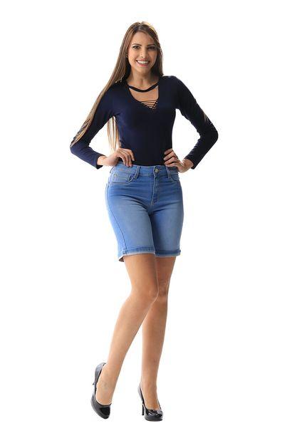 Bermuda Jeans Feminina Push Up - 256228 36