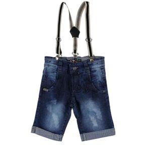 Bermuda Jeans Infantil para Menino - Azul 6